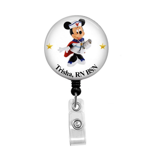 Minnie Mouse Nurse, Personalized - Retractable Badge Holder - Badge Reel - Lanyards - Stethoscope Tag