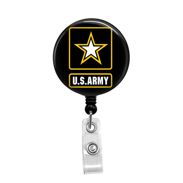 US Army Star - Retractable Badge Holder - Badge Reel - Lanyards - Stethoscope Tag