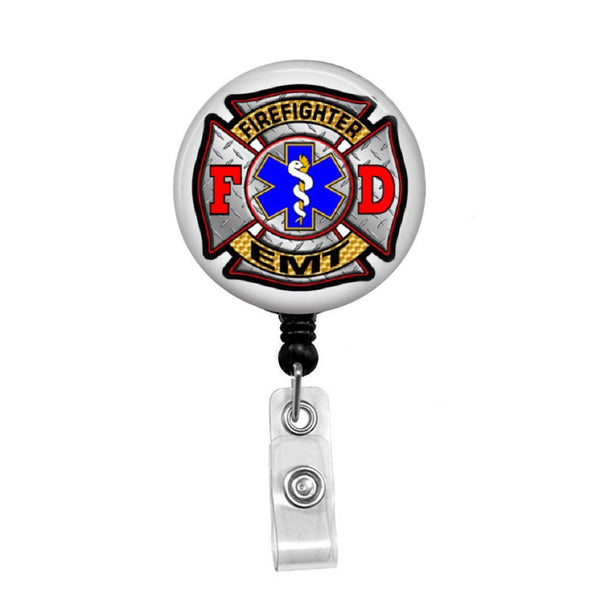 Firefighter EMT - Retractable Badge Holder - Badge Reel - Lanyards - Stethoscope Tag