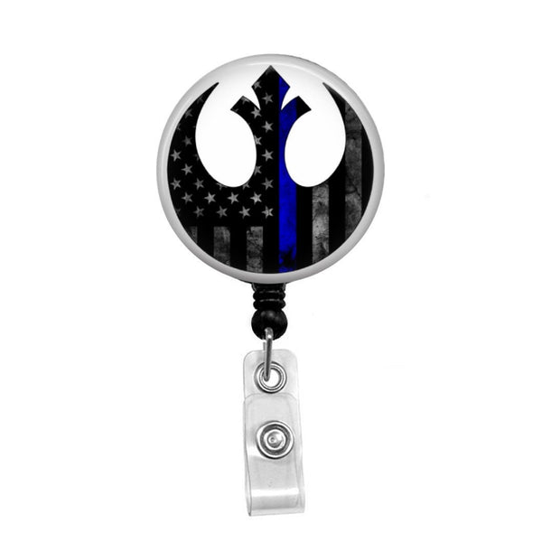Rebel Alliance Police Support - Retractable Badge Holder - Badge Reel - Lanyards - Stethoscope Tag