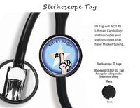 Physical Therapist, Personalized ID Badge - Retractable Badge Holder - Badge Reel - Lanyards - Stethoscope Tag