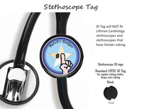 Nurse Hat, Heart & Stethoscope Personalized ID Badge - Retractable Badge Holder - Badge Reel - Lanyards - Stethoscope Tag
