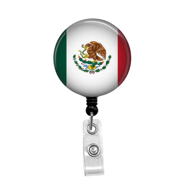 Mexican Flag - Retractable Badge Holder - Badge Reel - Lanyards - Stethoscope Tag