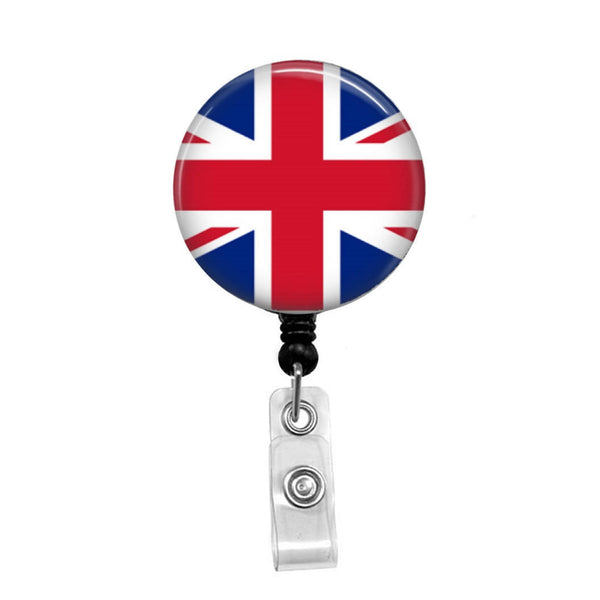 England, Flag of the United Kingdom - Retractable Badge Holder - Badge Reel - Lanyards - Stethoscope Tag