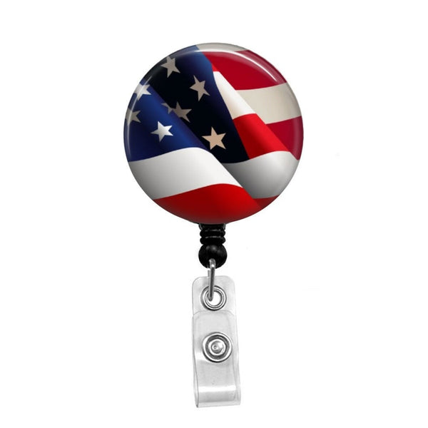American Flag - Retractable Badge Holder - Badge Reel - Lanyards - Stethoscope Tag