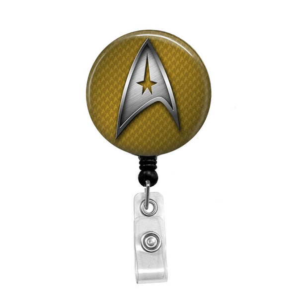 Star Trek, Original Command Badge - Retractable Badge Holder - Badge Reel - Lanyards - Stethoscope Tag