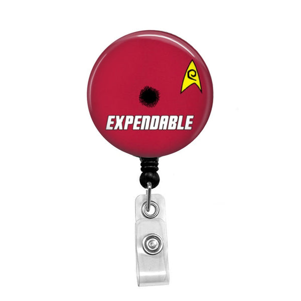 Star Trek, Expendable Red Shirt - Retractable Badge Holder - Badge Reel - Lanyards - Stethoscope Tag