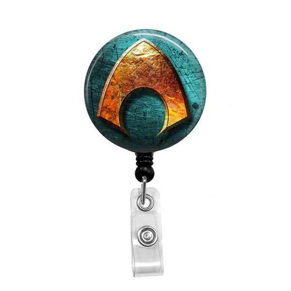 Aquaman - Retractable Badge Holder - Badge Reel - Lanyards - Stethoscope Tag