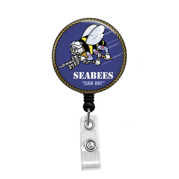 SEABEES - Retractable Badge Holder - Badge Reel - Lanyards - Stethoscope Tag