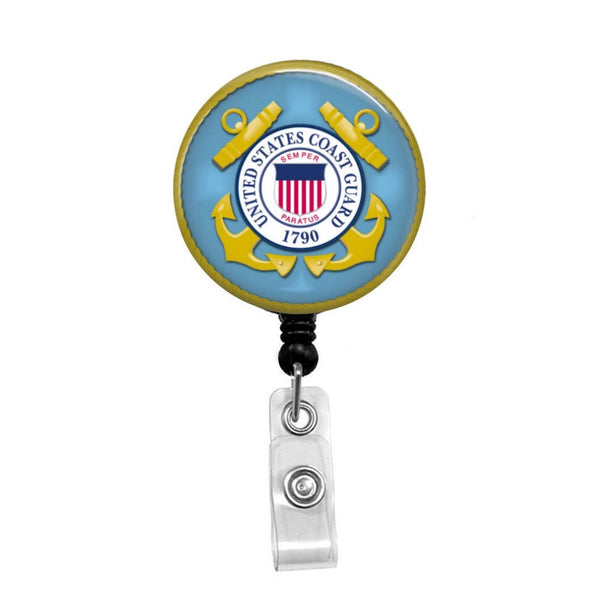 Coast Guard - Retractable Badge Holder - Badge Reel - Lanyards - Stethoscope Tag