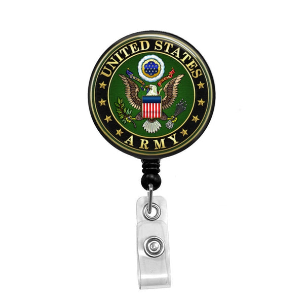 Army, USA - Retractable Badge Holder - Badge Reel - Lanyards - Stethoscope Tag