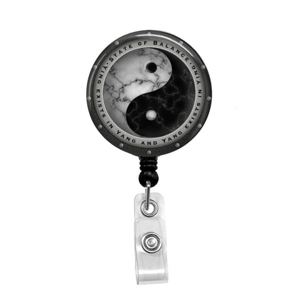 Yin Yang - Retractable Badge Holder - Badge Reel - Lanyards - Stethoscope Tag