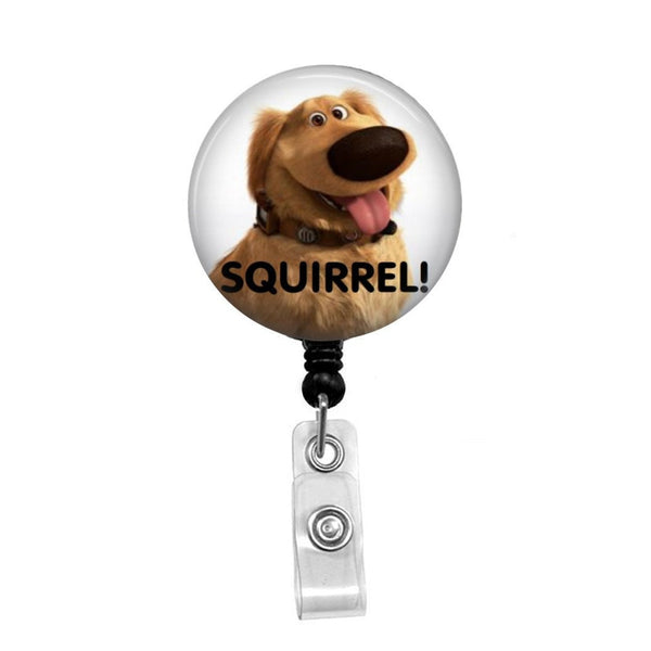 Dug from Disney's UP  - Retractable Badge Holder - Badge Reel - Lanyards - Stethoscope Tag