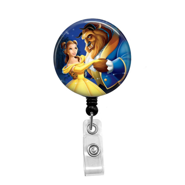 Beauty and the Beast - Retractable Badge Holder - Badge Reel - Lanyards - Stethoscope Tag