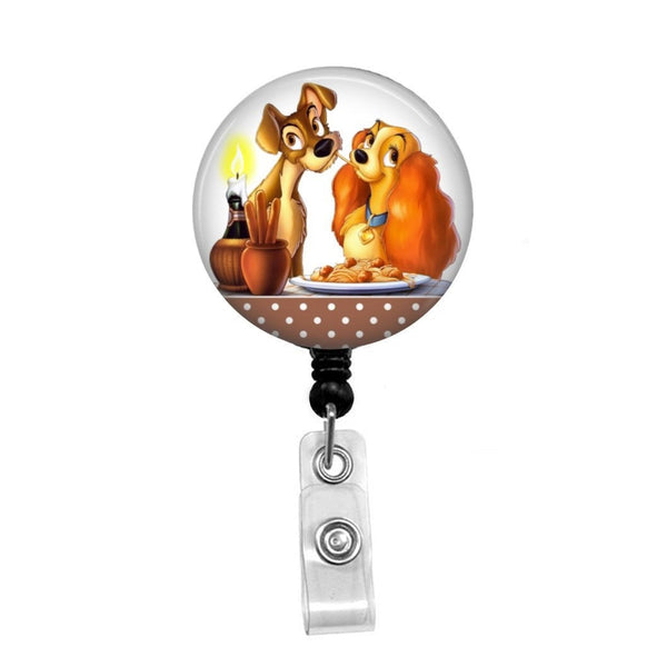 Disney's Lady and the Tramp Dinner - Retractable Badge Holder - Badge Reel - Lanyards - Stethoscope Tag