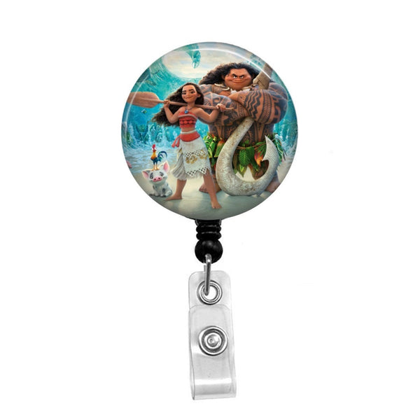 Moana  - Retractable Badge Holder - Badge Reel - Lanyards - Stethoscope Tag
