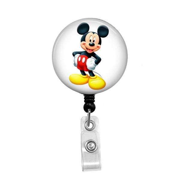 Mickey Mouse - Retractable Badge Holder - Badge Reel - Lanyards - Stethoscope Tag