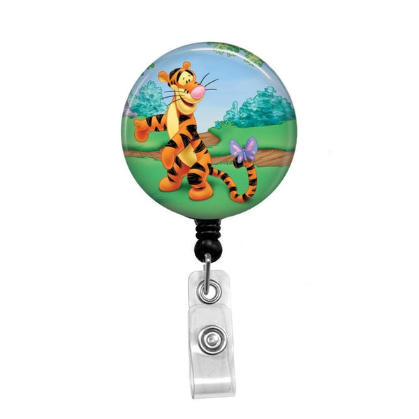 Tigger from Winnie the Pooh - Retractable Badge Holder - Badge Reel - Lanyards - Stethoscope Tag