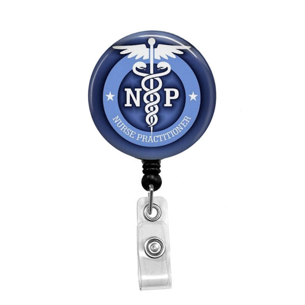 Nurse Practitioner 2, NP - Retractable Badge Holder - Badge Reel - Lanyards - Stethoscope Tag