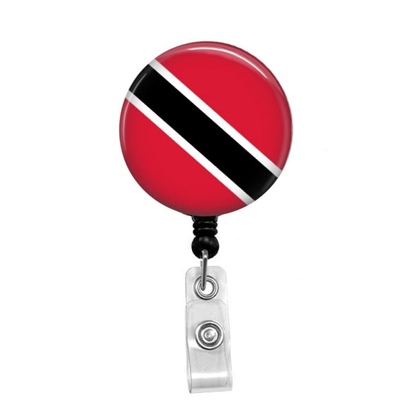 Flag of Trinidad and Tobago - Retractable Badge Holder - Badge Reel - Lanyards - Stethoscope Tag
