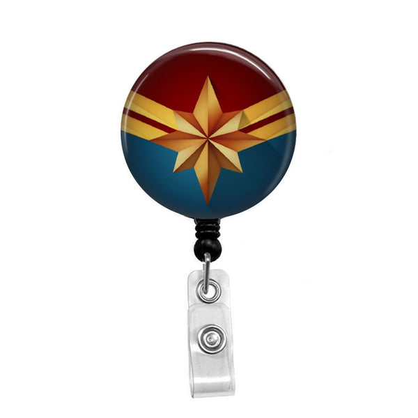 Captain Marvel - Retractable Badge Holder - Badge Reel - Lanyards - Stethoscope Tag