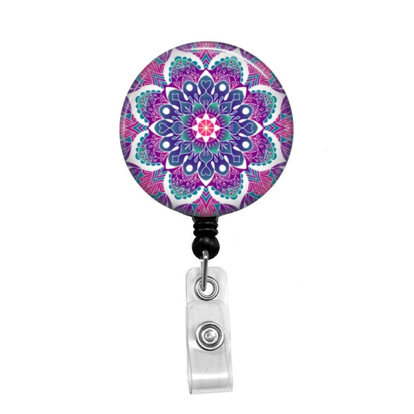 Geometric Pattern 4 - Retractable Badge Holder - Badge Reel - Lanyards - Stethoscope Tag