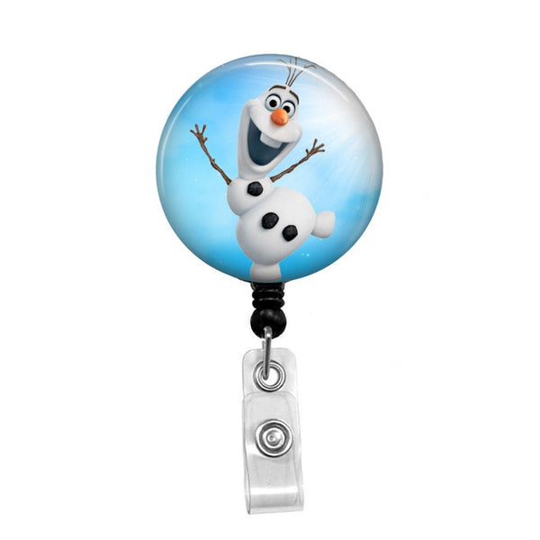 Olaf from Frozen - Retractable Badge Holder - Badge Reel - Lanyards - Stethoscope Tag