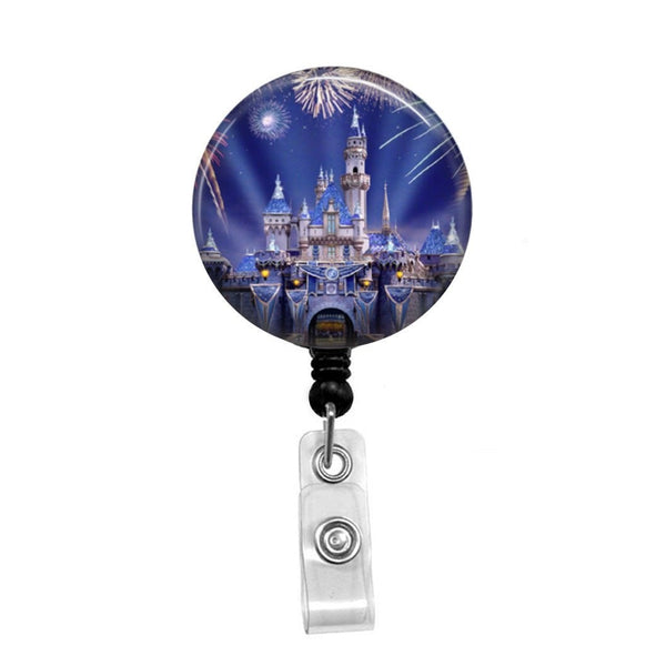 Cinderella's Castle - Retractable Badge Holder - Badge Reel - Lanyards - Stethoscope Tag