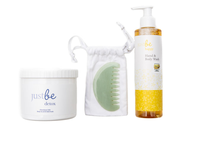 Comb Beauty Restorer with Happy Body Wash & Detox Salt