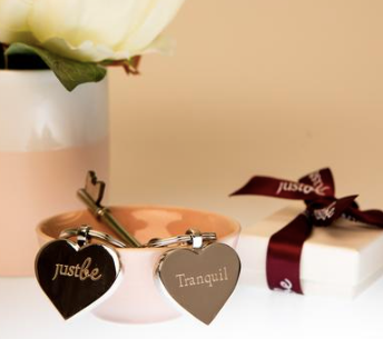 JustBe Tranquil Keyring & Chocolate