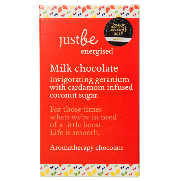Energised Aromatherapy Milk Chocolate 50g