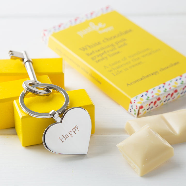 JustBe Happy Keyring & Chocolate