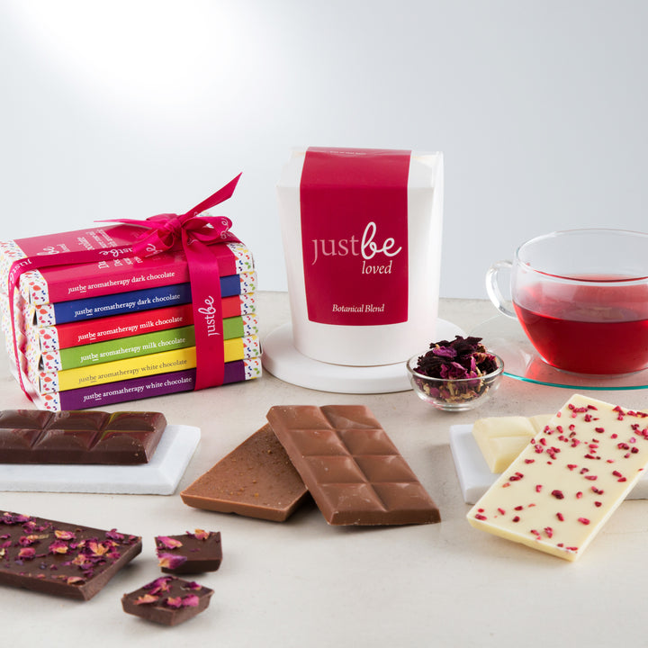 Chocolate & Tea Gift Set-JustBe Botanicals-JustBe Botanicals
