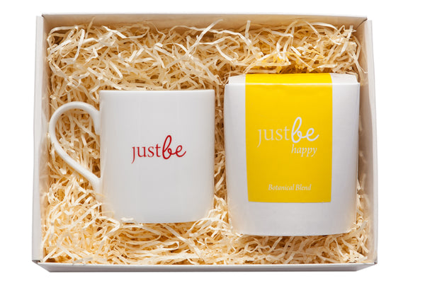 Happy Tea & Bone China Mug-JustBe Botanicals-JustBe Botanicals