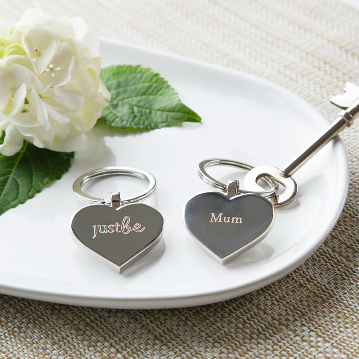 JustBe Mum Engraved Keyring & Chocolate