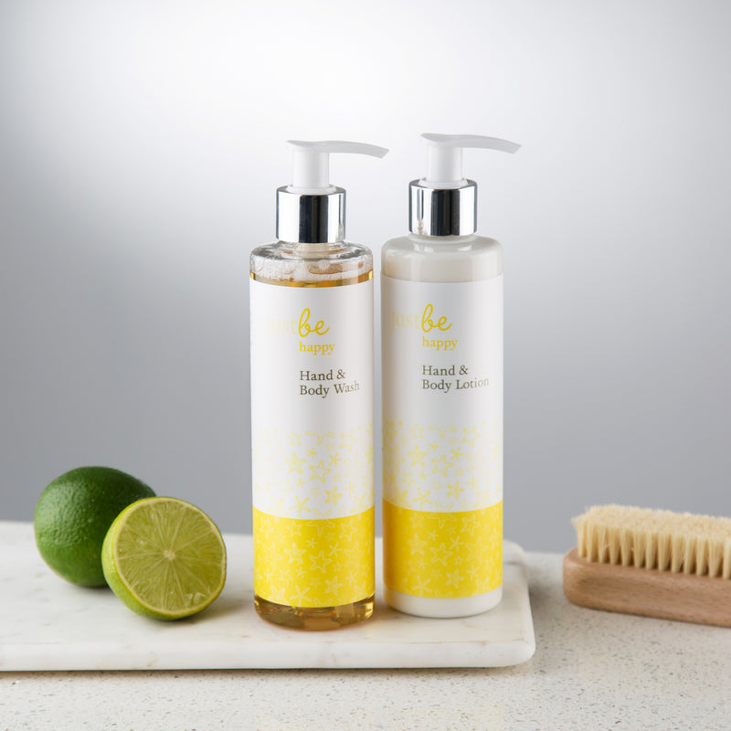 Happy Hand Wash & Lotion Set-JustBe Botanicals-JustBe Botanicals