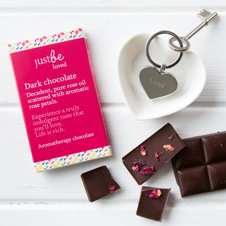 JustBe Loved Keyring & Chocolate