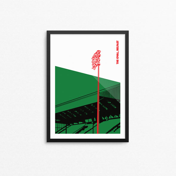 Glentoran Floodlights Print