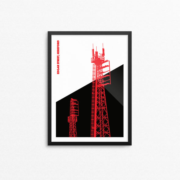 Hereford Floodlights Print