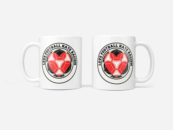 Love Football Hate Racism Mug