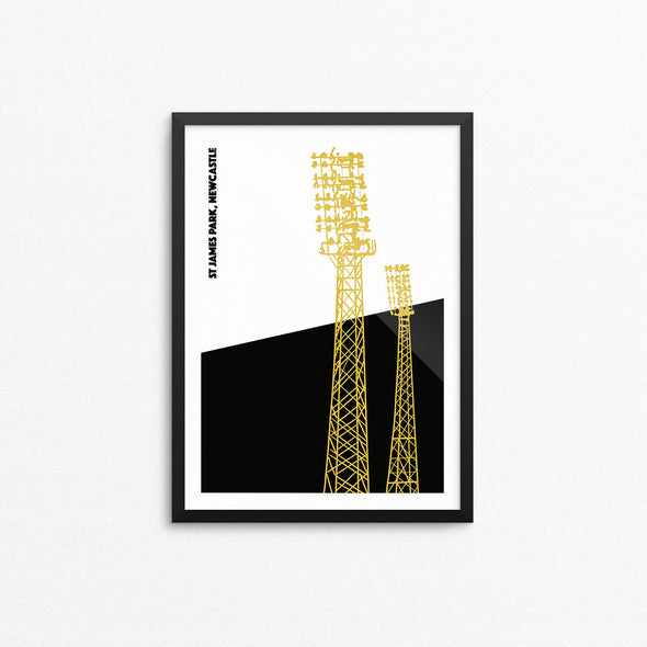 Newcastle Floodlights Print