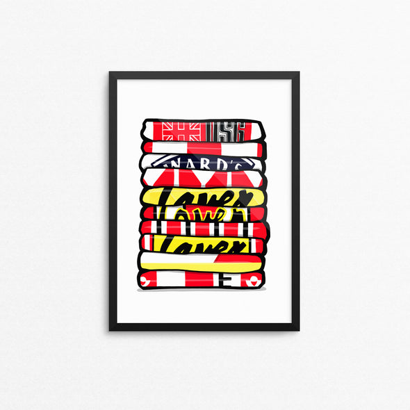 Sheffield Utd Shirt Stack Print