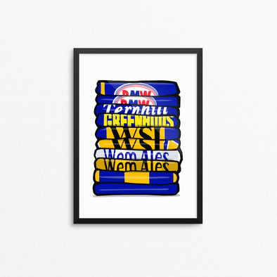 Shrewsbury Shirt Stack Print