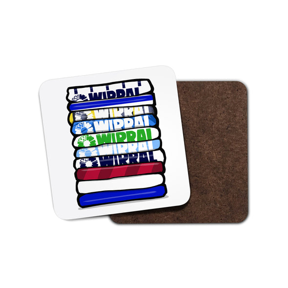 Tranmere Shirt Stack Coaster