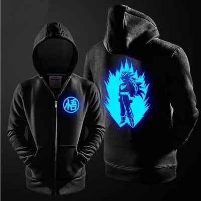 Anime Black Jacket Dragon Ball Z Son Goku Cosplay Costume Luminous - 04 / S