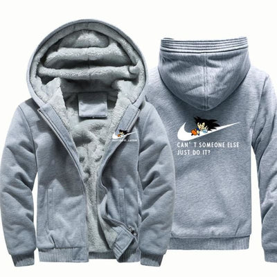 Cant Somone Else Just Do It Hooded Jacket - Grey / Xl