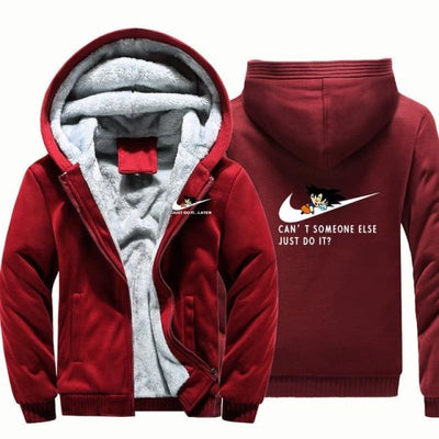 Cant Somone Else Just Do It Hooded Jacket - Red / Xl