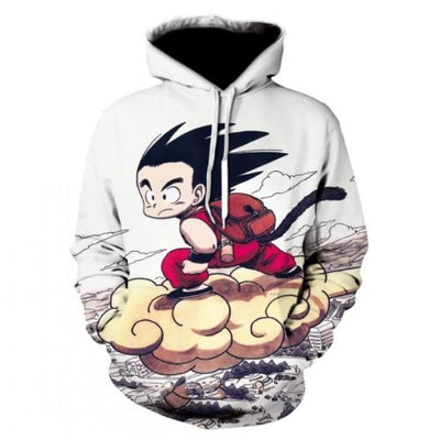 Dbz Dragon Ball Z Goku Transformation Fighting Hoodies - Picture Color / Xs