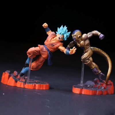 Dbz Super Saiyan Dragon Ball Z Frieza Vs Son Goku Action Figure - One Set No Box