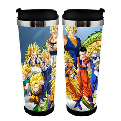 Dragon Ball Goku Double Insulation Resin Plastic Mug Coffee - 1 / Plastic Liner